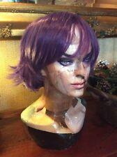 Short Purple Party Hair Purple Wig Party Full Head #125 Wigs