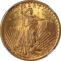1924 Saint-Gaudens Gold $20 NGC MS66 Nice Eye Appeal Strong Strike