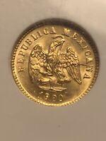 1900 - Mo M NGC MS 64 Mexico Gold 1 Peso Coin (Mexico City) NGC 3154095-004