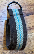 New listing Boys Adjustable Cloth Belt Brown Tan Striped 34.5� Long One Size