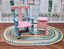 Renwal Nursery Rocking Chair Vintage Tin Dollhouse Furniture Ideal Plastic 1:16