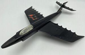 Vintage Batplane Batman Bat Plane Aurora Built plastic model Missing Front Wheel