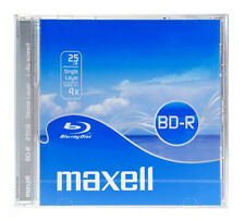 MAXELL BD-R Blu-ray Disc, 25gb, 4X Speed, Jewel box, NUOVO JEWELBOX