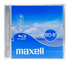MAXELL BD-R Blu-ray Disc, 25gb, 4X Speed, Jewel box, NUOVO JEWELBOX