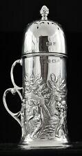 More details for art nouveau sterling silver sugar castor, birmingham 1902, t h hazlewood & co