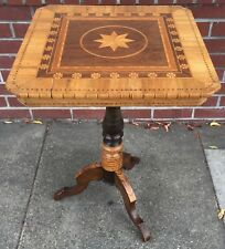 Antique Inlaid Marquetry Italian Table