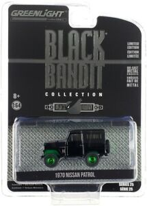 "Chase 1970 NISSAN PATROL ""BLACK BANDIT"" 1/64 DIECAST MODEL BY GREENLIGHT 28070 B"