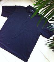 Nike Golf Shirt Mens XL Short Sleeve Black Polo Dri Fit