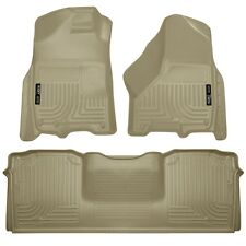 Husky Liners WeatherBeater Floor Mats - 3pc - 99043 - Dodge Ram Mega Cab - Tan