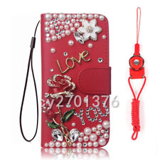 for Motorola G8 Play/Power Lite/stylus/Plus Bling Leather Women Wallet Covers