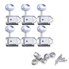 6Pcs Nickel Tuning Pegs Tuners Machine Heads For Strat Tele 6R Electric Guitar
