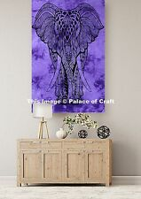 Royal Ethnic Elephant Cotton Table Cloth Wall Hanging Tapestry Indian Throw Boho