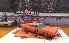 Papercraft Dukes Of Hazzard General Lee Dodge Charger EZU-make Paper Model Car
