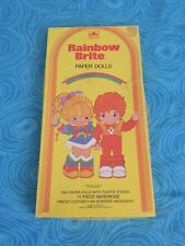 Vintage Rainbow Brite paper dolls 1983 Golden/Hallmark Good Condition