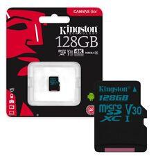 128GB Kingston Canvas Go! Micro SD Memory Card 90MB/s UHS-1 V30 Class 10 128GB