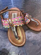 a7385a83030 Steve Madden Slip On Strap Sandal s Multicolor Toddler Girls Size 5 M