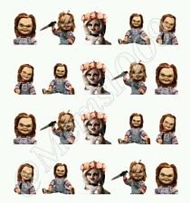 Chucky nail art water decals Child's Play nail decals Horror Nail Art Decals
