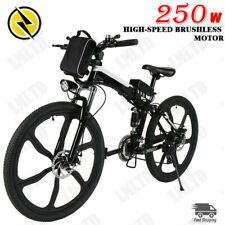 26in Electric Bike Foldable Mountain Bicycle City E-Bike 36V Li-Ion 250W Shimano