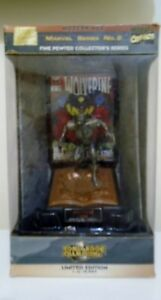 VINTAGE 1997 MARVEL SERIES 2 FINE PEWTER WOLVERINE MINT IN BOX new opened  NOS