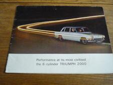 TRIUMPH 2000, BROCHURE, 1965 MODEL YEAR