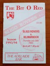 Sligo Rovers v Kilmarnock 1993