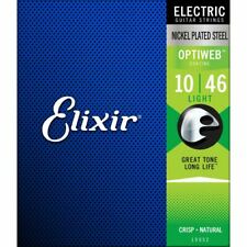 ELIXIR OPTIWEB ELECTRIC GUITAR STRINGS 19052 NICKEL PLATED - LIGHT - 10-46
