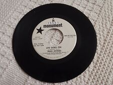 NORTHERN SOUL FRAN JEFFRIES LIFE GOES ON/MY LONELY CORNER MONUMENT 1015 PROMO