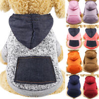 Pet Sweater Small Dog Clothes Sports Hoodie Jumper Cute Coat Puppy Cat Apparel