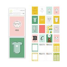 Studio Calico CLARA 3x4 Journaling Cards 60-pack scrapbooking BABY