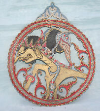 Antique Vintage Chinese Hand Painted Card Wall Hanging with Dragon etc