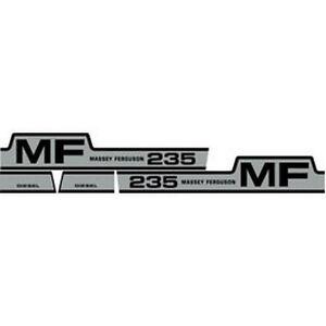 235 MASSEY FERGUSON TRACTOR HOOD DECAL KIT MF 235 DIESEL HIGH QUALITY DECALS 🎯