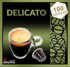 100 Karoma Capsules Compatible Nespresso Machine! ARABICA DELICATO! (SMOOTH)