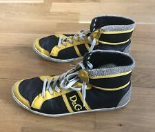 Dolce And Gabana D&G Butterfly Black Yellow Grey Trainers Boots Used