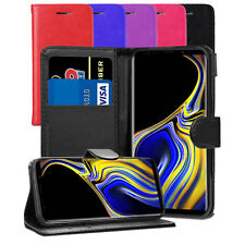 For Samsung Galaxy Note 9 SM-N960F/DS Case - Leather Wallet Flip Cover + Screen