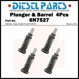 4Pcs Fuel Plunger & Barrel 6N7527 for Caterpillar 3208 3304 3306 SR4 D330C D333C