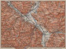 BAD RAGAZ. Malbun Flums Wangs Pizol Sargans Grusch Malans Maienfeld 1905 map