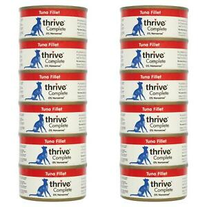 12 x thrive Wet Cat Food Tuna Fillet 100% Natural Complete Tin - Real Fish - 75g