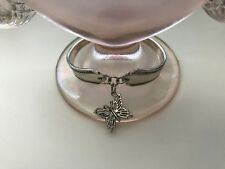 Vintage Fashion Upcycled Antique Silver Plate Spoon Bracelet / BUTTERFLY