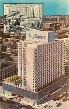 New York City~City Squire Motor Inn~Pool: Diving Board~Artist Drawing~1950s PC