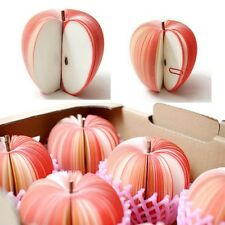 3D Fruit Apple Shaped Memo Note Pad Writing Stationary Post Party Creative Gift