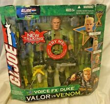 2004 Hasbro Gi Joe Voice Fx Duke 10 In Action Figure Valor Vs. Venom New In Pkg