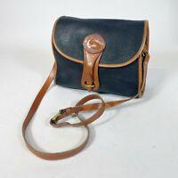 Dooney and Bourke Essex R26 Handbag Small Navy Blue Leather Crossbody Bag Womens