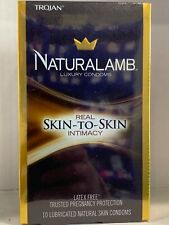 IN STOCK Trojan Naturalamb Lubricated rubber CONDOMS 10 Count vintage PROTACTION