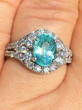 18K GOLD 4.12 CT. GIA CERTIFIED NEON BLUE PARAIBA TOURMALINE DIAMOND RING!!
