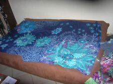 echarpe paréo foulard desigual  euve av etiquette trés beau bleu 50