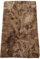 éco peau d'AGNEAU d'Islande Tapis 115 x 190 cm de fourrure châtaignier en 4
