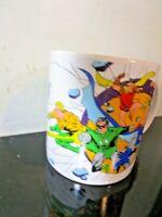 DC Comics Justice League Character VTG 1989 Tea Coffee Mug Cup. GOOD COMPANY