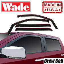 In-Channel Wind deflectors For 2019-2020 Chevy Silverado 1500 Crew Cab