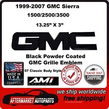 1999-2007 GMC Sierra 1500 Black Powder Coat GMC Front Grille Emblem AMI 96500K