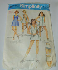 sewing pattern tennis dress & pants vintage 70s